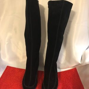 Women's Wedge Suede Boots